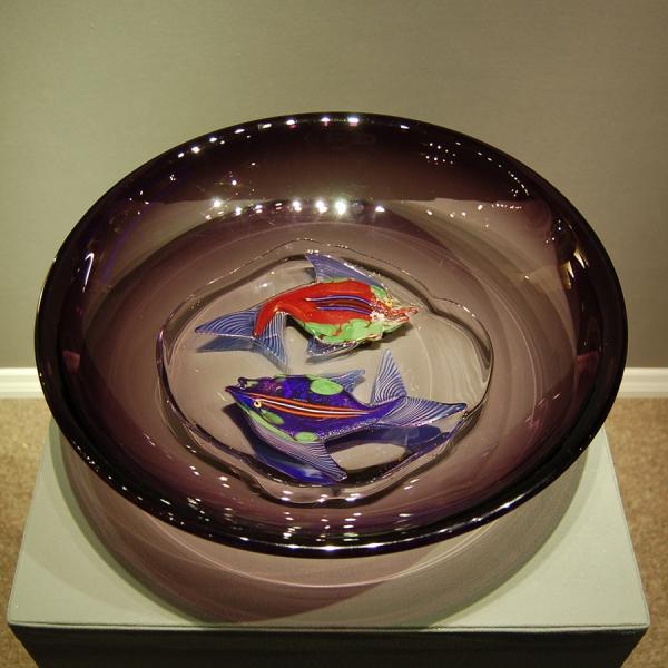 Mark helliar 20th century design murano glass for Large glass fish bowl