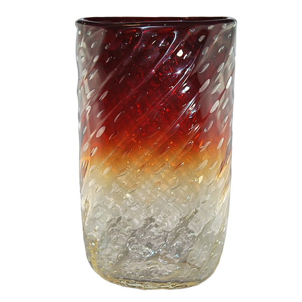 Barovier Three Color Bubble Vase