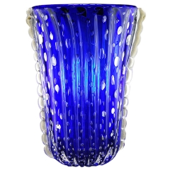 Barovier and Toso Blue Vase
