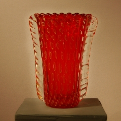 Large Red Bubble Vase